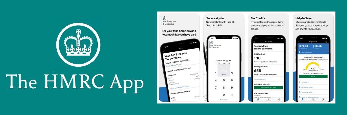 Screenshots of the HMRC App